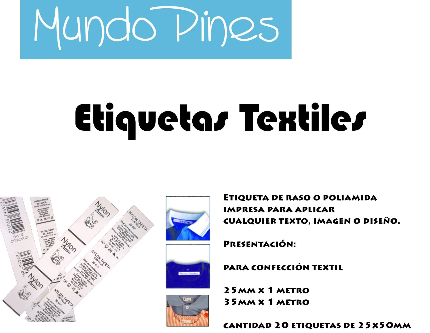 Etiqueta textil raso o poliamida 30mm mundopines - Sabanas de raso precio ...